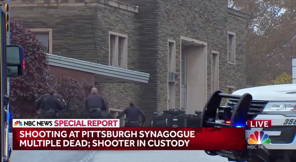 11 dead in Pittsburgh synagogue terror, worst such attack in US history; white, bearded, middle-aged suspected assailant in custody, was armed with weapons of war
