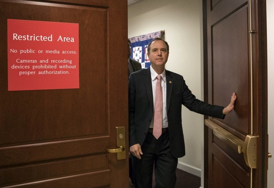 Adam Schiff lets it be known that the lid will be blown off Trump schemes