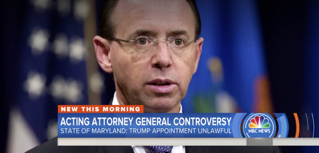 State of Maryland asks judge to declare Rosenstein acting attorney general (nbcnews.com)