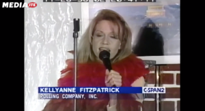 You won't be able to unsee this cringeworthy video of 29-year-old Kellyanne Conway (then Fitzpatrick) (mediaite.com)