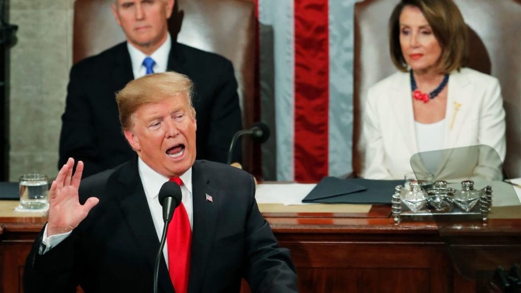 Trump's most bizarre SOTU outburst reveals his true nature