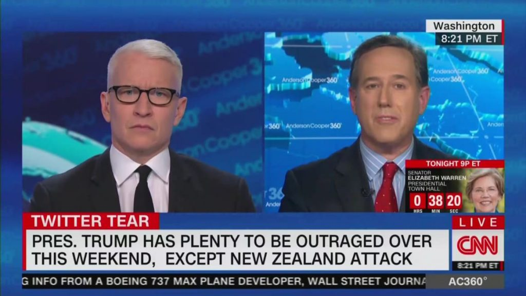 CNN's Rick Santorum: I Wish Trump Would Email a Therapist Instead of Tweet (thedailybeast.com)