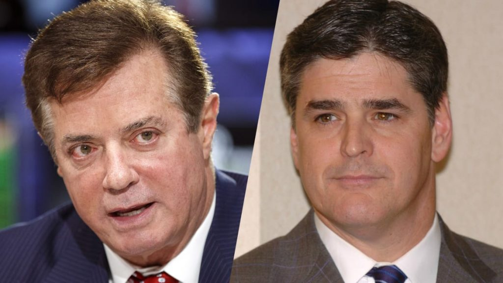 Hannity and Manafort's Gushing Text Messages Revealed: 'We Are All on the Same Team' (thedailybeast.com)