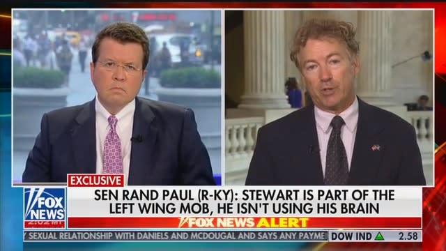 Rand Paul Fires Back at Jon Stewart on Fox News: He's 'Not Using His Brain' (thedailybeast.com)