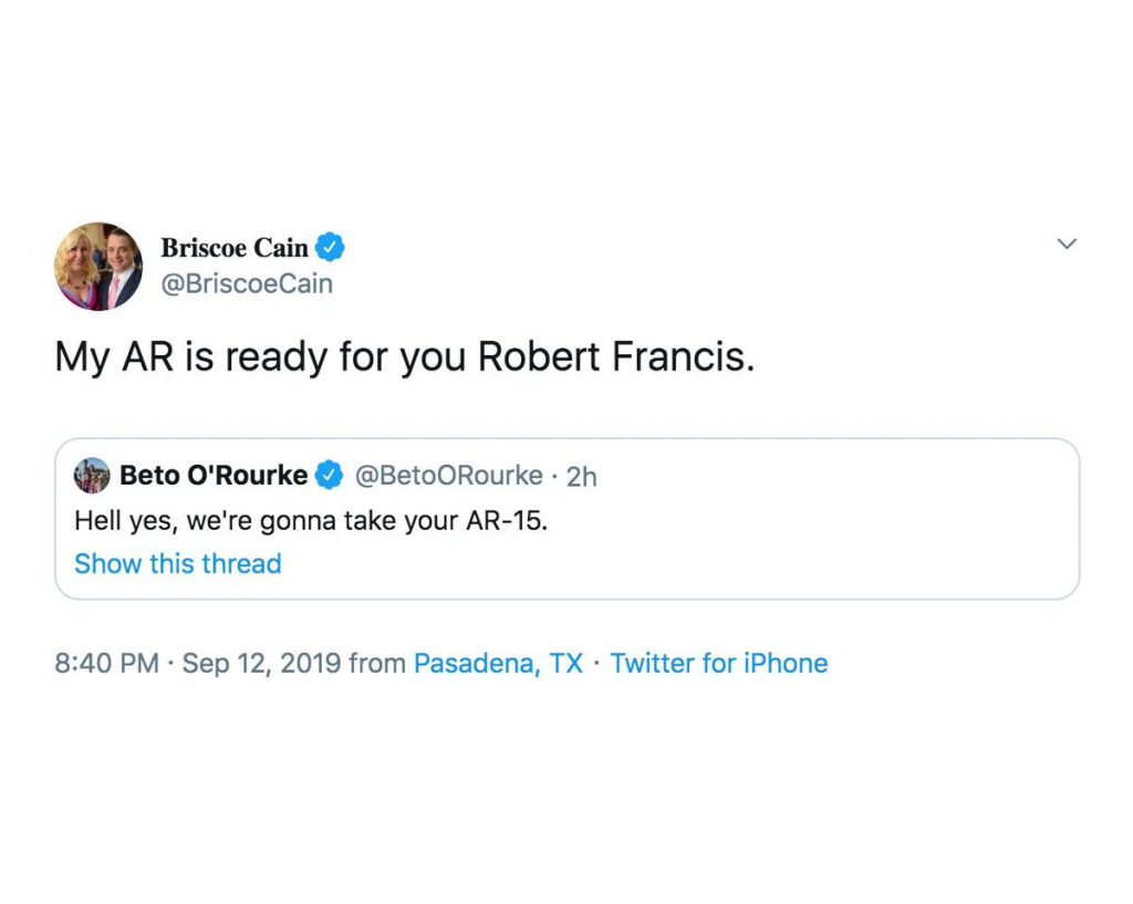 My AR-15 is 'ready for you', Texas lawmaker tells Beto O'Rourke (theguardian.com)