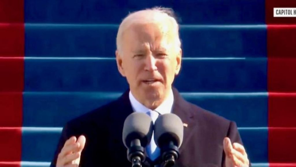 Joe Biden promises 'we will defeat' political extremism and white supremacy in inauguration address (rawstory.com)