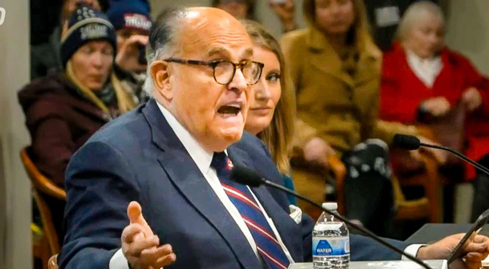 'I am a witness': After helping to incite riot, Rudy Giuliani says he won't defend Trump at impeachment trial (rawstory.com)