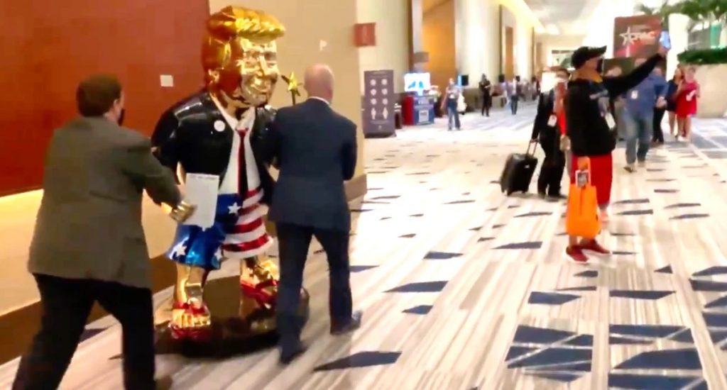 WATCH ▶️'Golden Calf' Trends After Massive Statue of Trump is Wheeled into CPAC (towleroad.com)