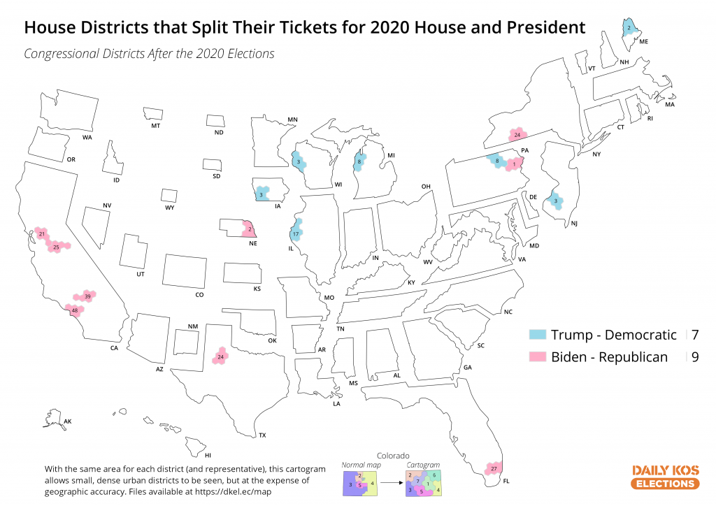 These 16 House districts are the only ones that split their tickets for House and president in 2020 (feeds.dailykosmedia.com)