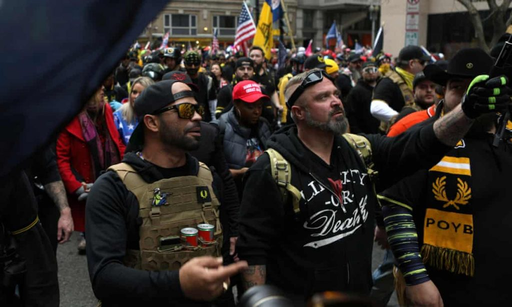 Proud Boys and other far-right groups raise millions via Christian funding site (theguardian.com)