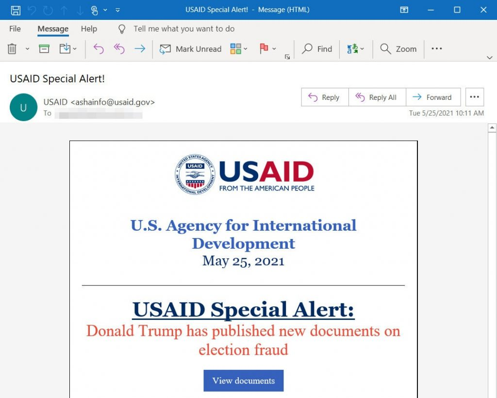 Russia Appears to Carry Out Hack Through System Used by U.S. Aid Agency (nytimes.com)