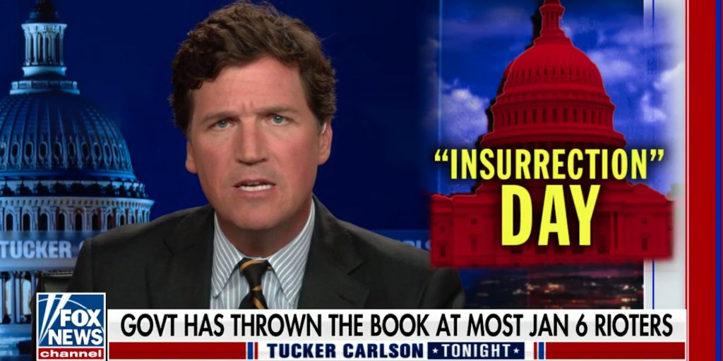 Tucker Carlson baselessly claims 'FBI operatives were organizing the attack on the Capitol,' his latest whitewashing of Jan. 6 (businessinsider.com)