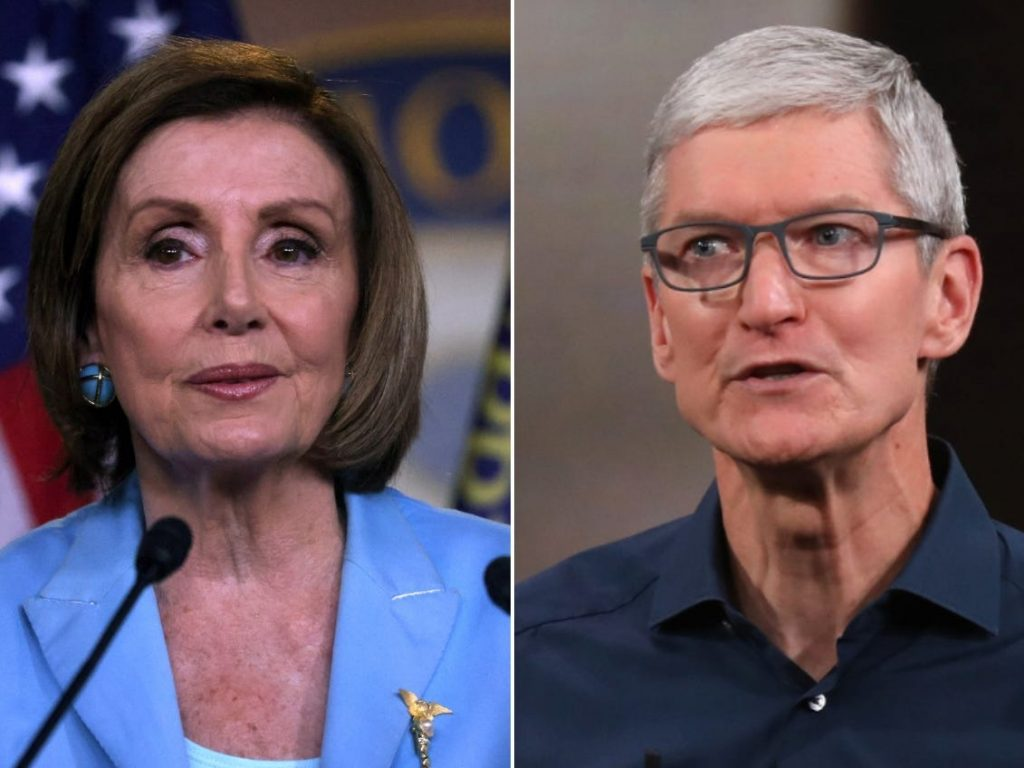 Apple CEO Tim Cook personally rang Nancy Pelosi to ask her to slow down 6 tech antitrust bills, according to a report (businessinsider.com)
