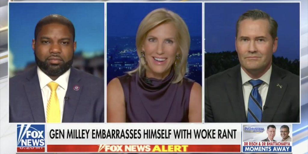 Fox News host Laura Ingraham suggests the US military should be defunded after top general's defense of anti-racism education goes viral (businessinsider.com)