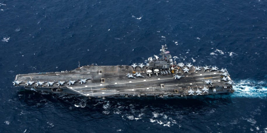 The US Navy's only forward-deployed aircraft carrier has left the Pacific to cover the Afghanistan pullout (businessinsider.com)