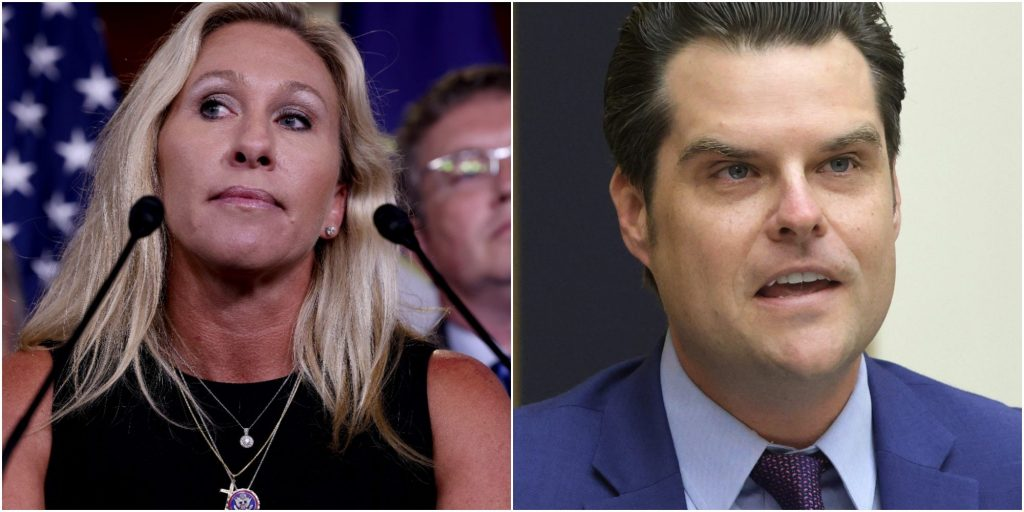 A California hotel booted an 'America First' event when it found out Matt Gaetz and Marjorie Taylor Greene were the featured speakers (businessinsider.com)