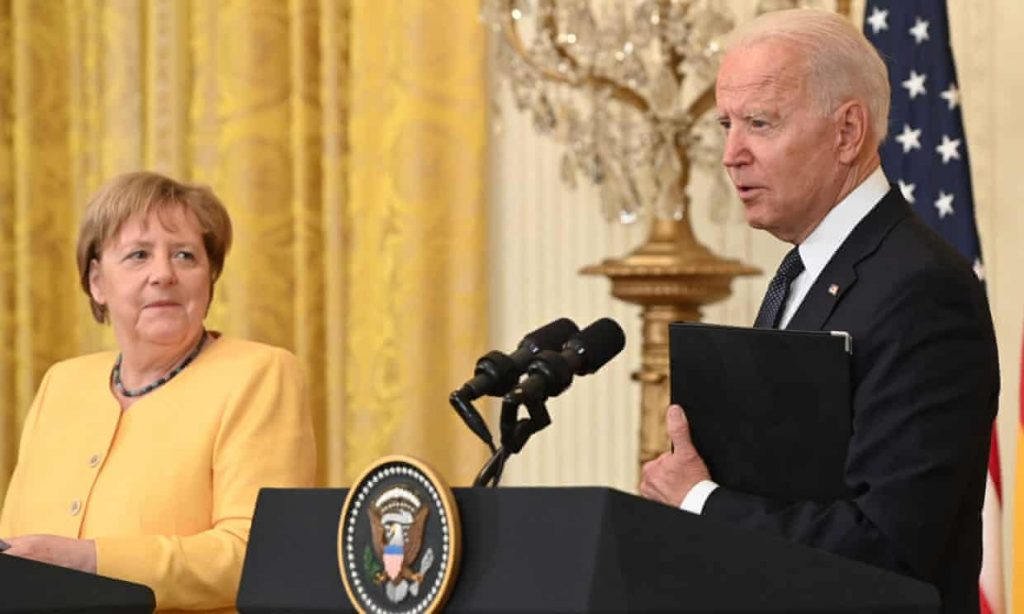 Biden and Merkel vow to defend against Russian aggression in White House meeting (theguardian.com)